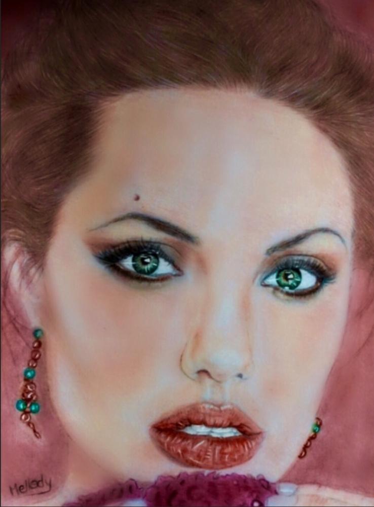 Angelina Jolie por Mellody